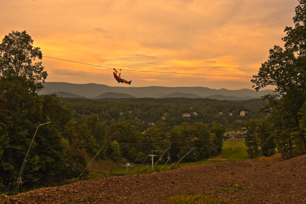 Get above the trees for some of the best views of towns and the mountains in the distance.