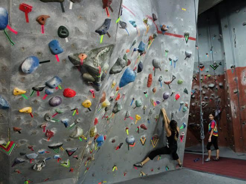Stay strong and engaged at Asheville's indoor climbing gym.