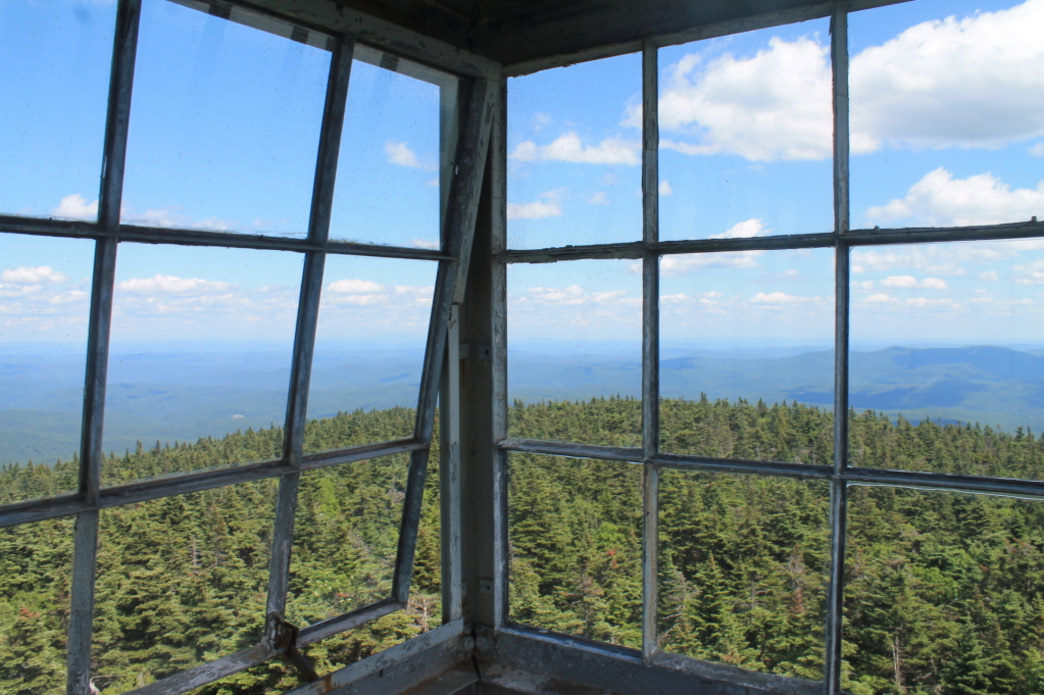 The view from the Stratton Mountain fire tower