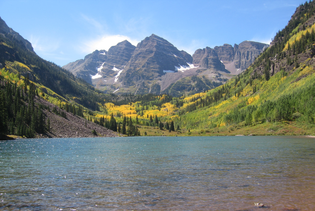 Aspen offers easy access to the iconic Maroon Bells.