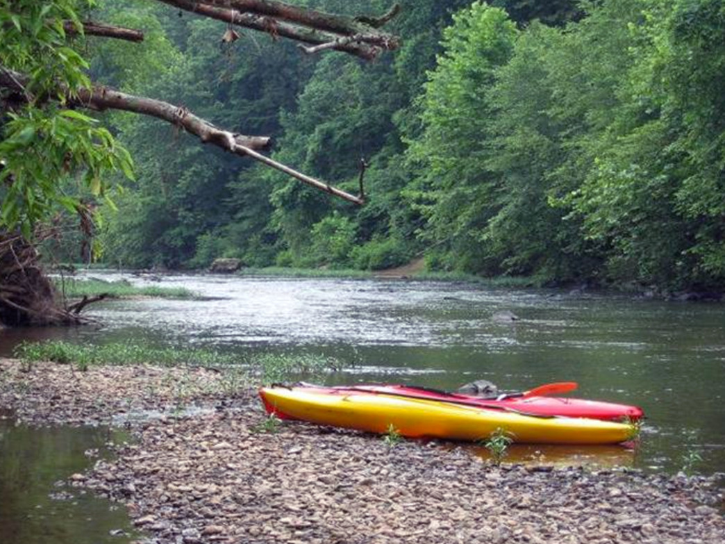 Hitch up to the riverbank and take a hike or have a shoreside picnic