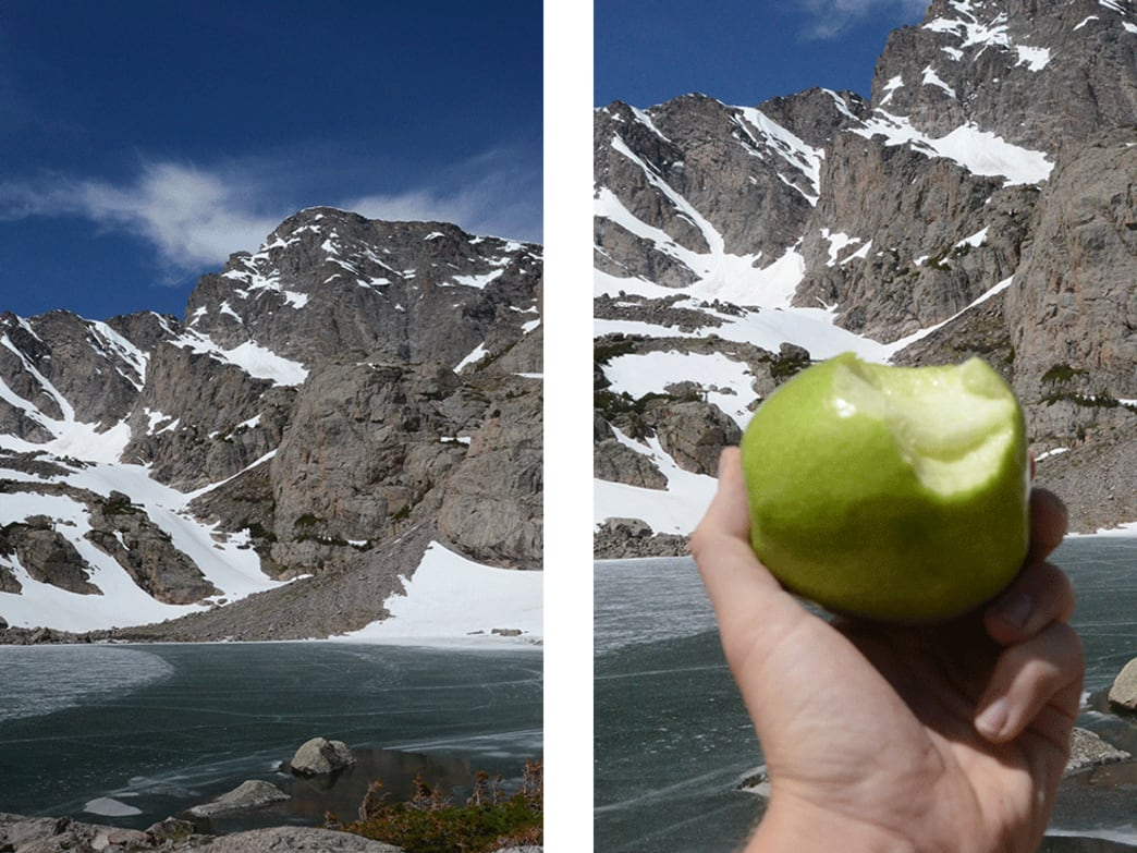 Sky Pond is about as sweet as this apple tasted.