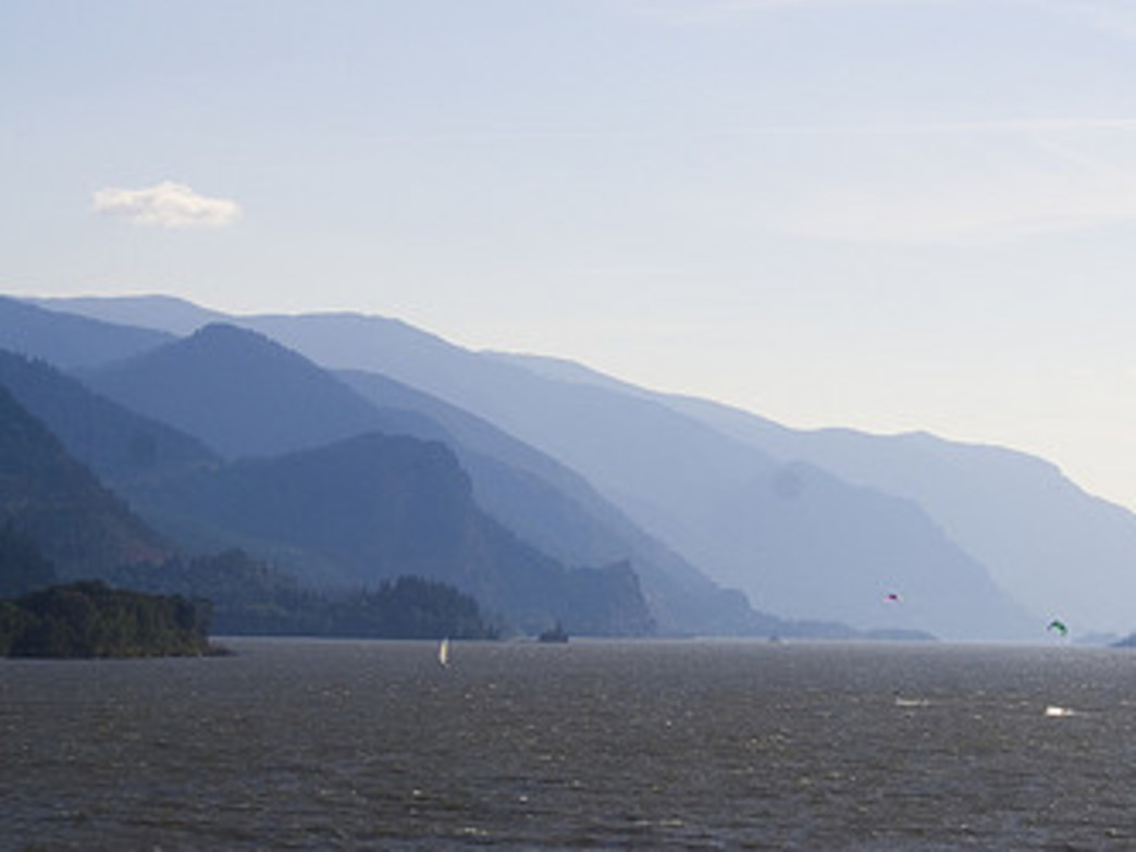 The Columbia River Gorge provides a stunning backdrop for windsurfers and water sports athletes from around the world.