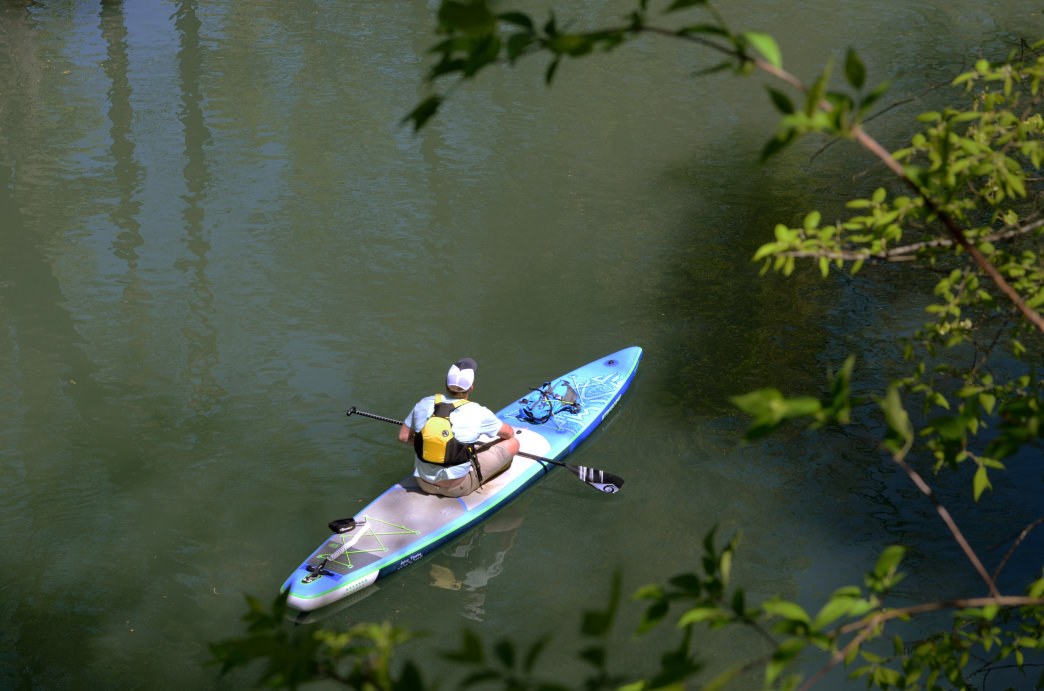 The calm section of the North Chickamauga Creek offers a relaxing way to explore the outdoors. 
