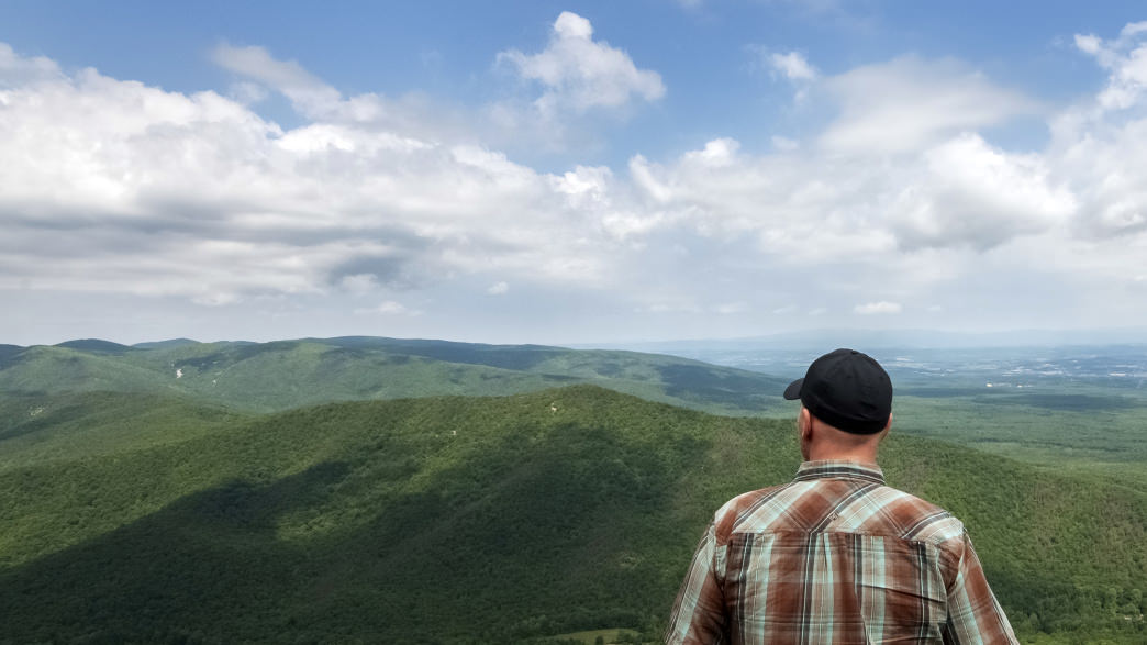McAfee Knob is one of the most photographed spots on the Appalachian Trail.