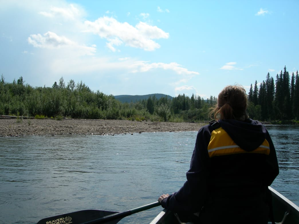 Canoeing on the Chena River.