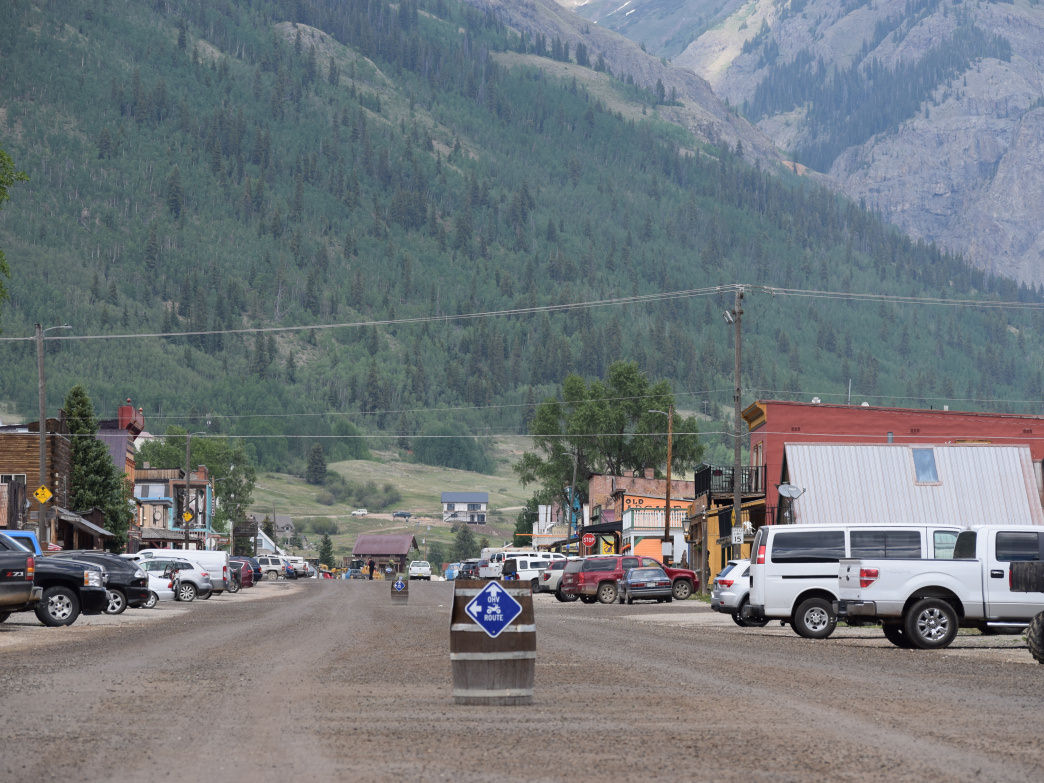 There is one paved street in Silverton. This is not it.