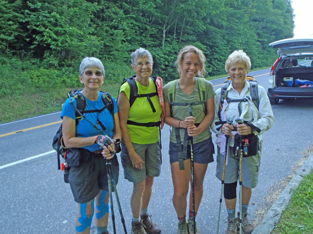 Liz and friends hiking Deep Creek