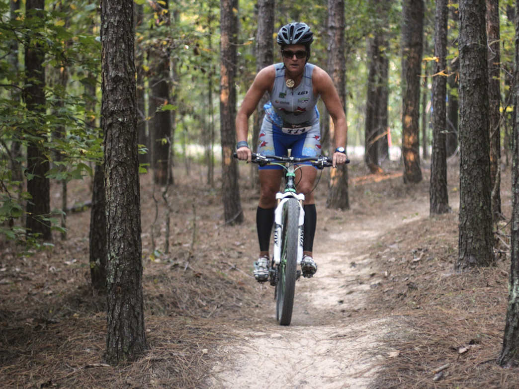 Riding the singletrack at Enterprise South Nature Park.     Elizabeth Glas