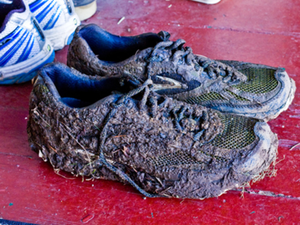 Expect shoes to look like this after the Hagg Lake 50K.