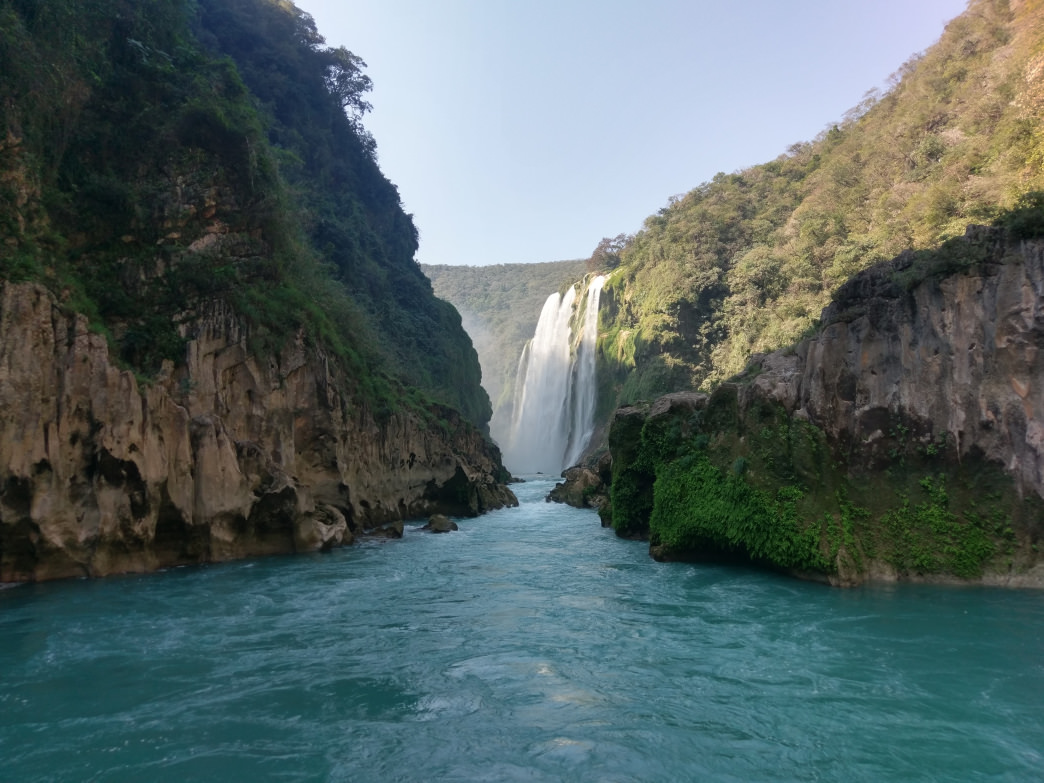 The Tamul waterfall is more than twice the height of Niagara.