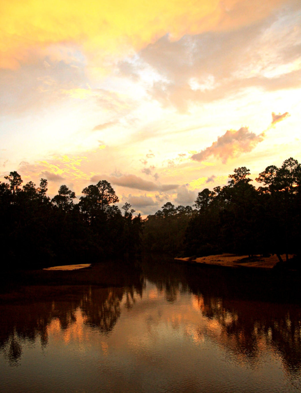 Sunset on the Blackwater River in Florida.