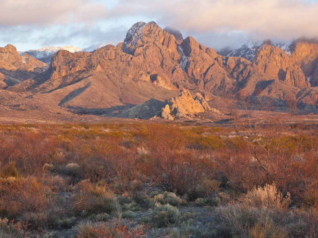 Golden hour in the Organ Mountains