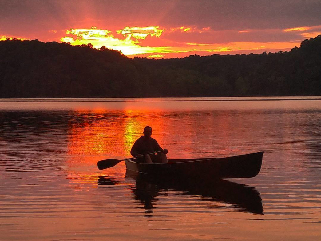 The Land Between the Lakes Recreation Area is especially beautiful at sunrise and sunset.