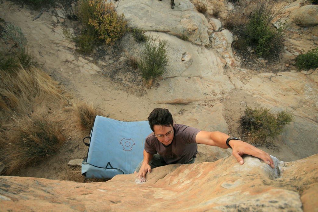 Bouldering near Santa Barbara's iconic Lizard's Mouth