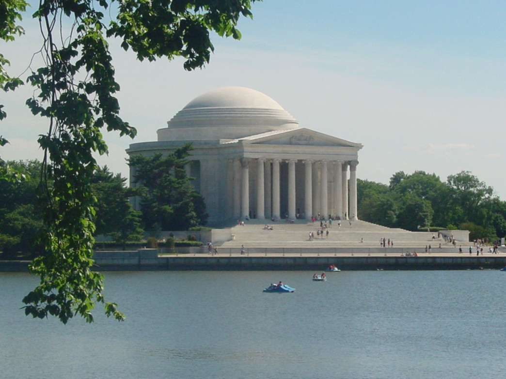 Peddle Boaters among the monuments in DC's Tidal Basin
