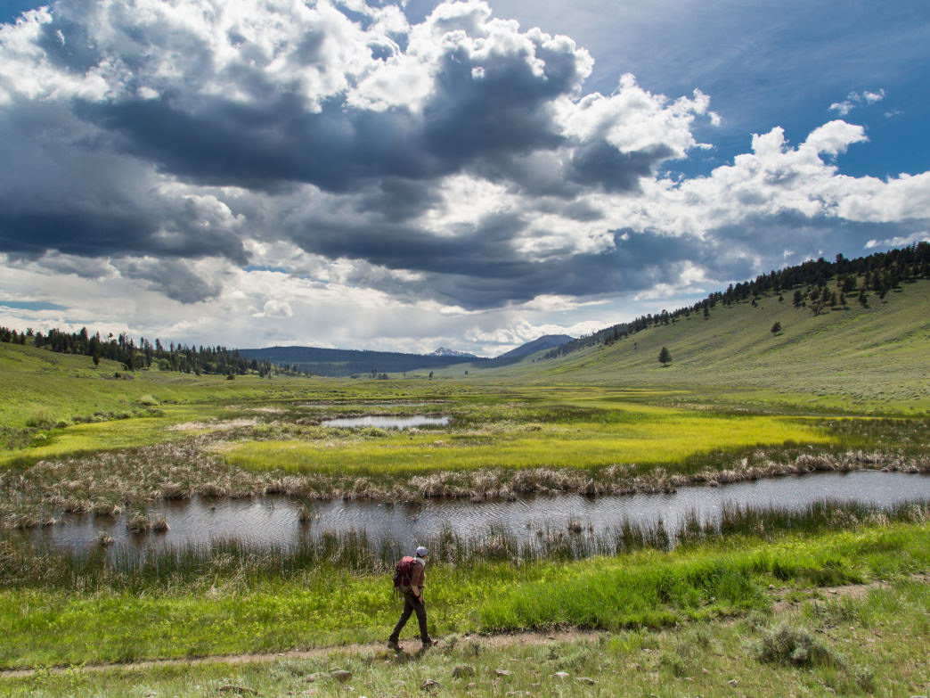 It doesn't get much better than hiking in Yellowstone National Park.