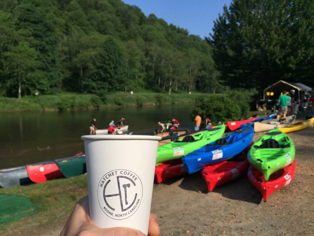 Hatchet Coffee kicked off the summer at the New River Canoe Race in June.