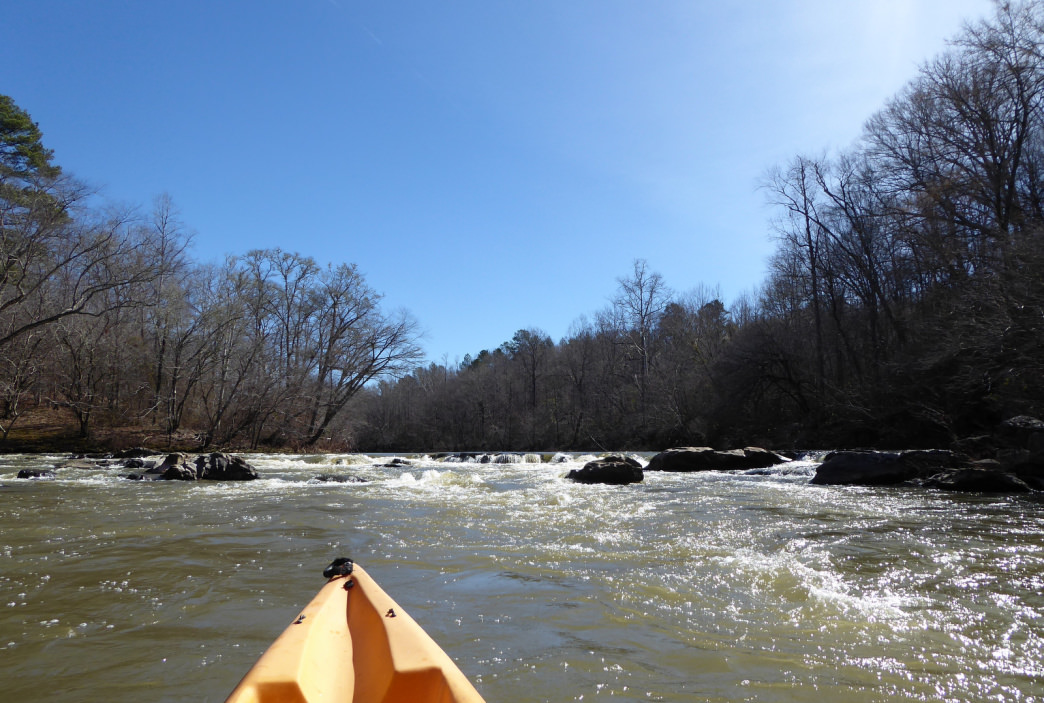 Looking back upstream at a rapid on Hatchet Creek.     Marcus Woolf