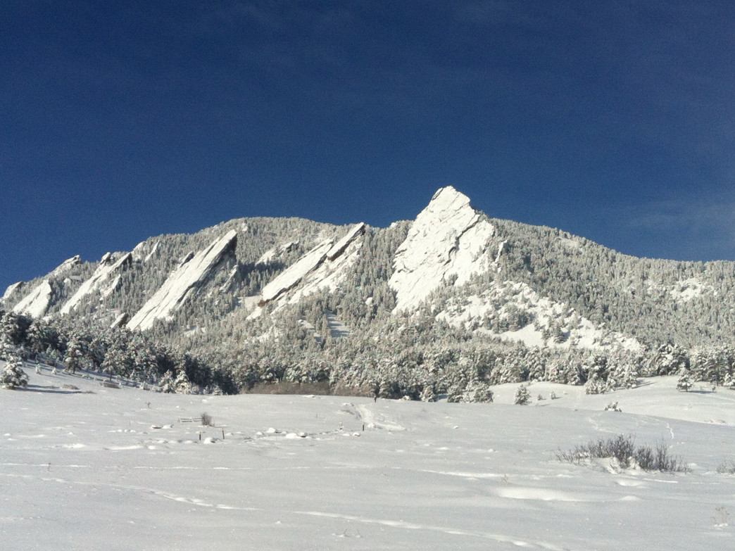 Big upslope storms could make snow-crusted Flatirons a common sight.