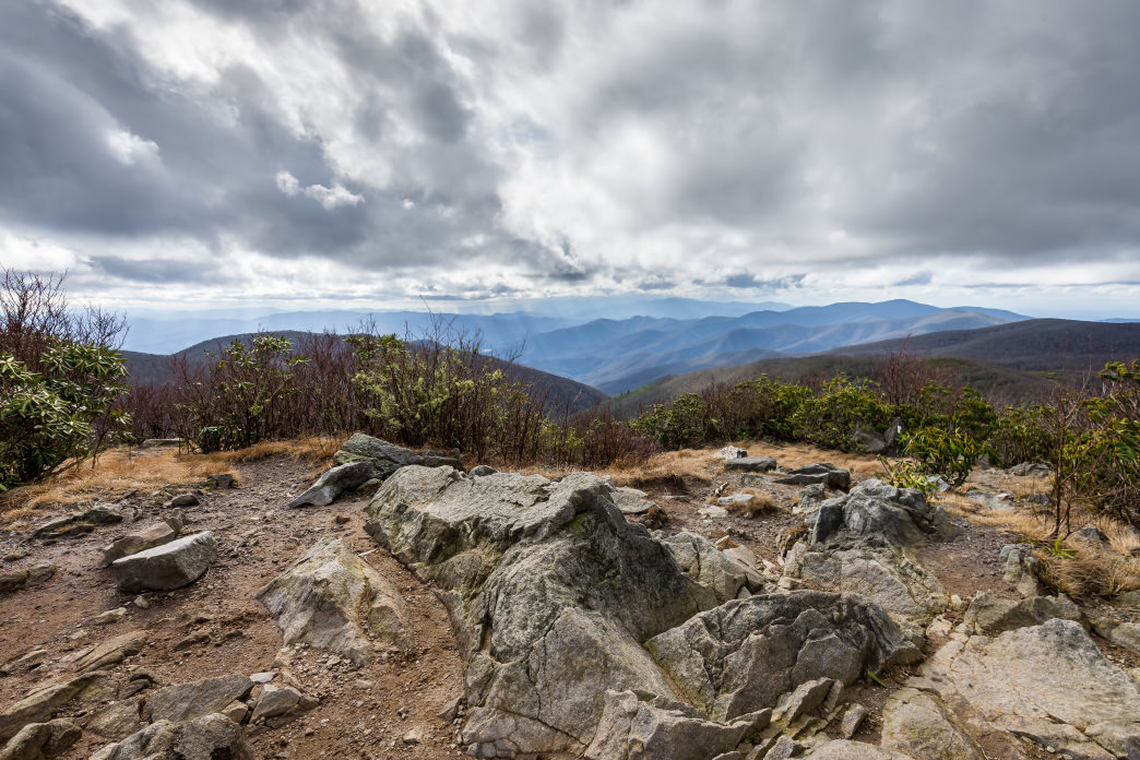 The view from Rocky Top on Thunderhead Mountain is the best of the three summits.