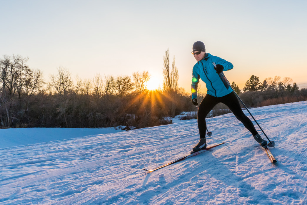 Cross-country skiers will find a network of groomed trails close to town.