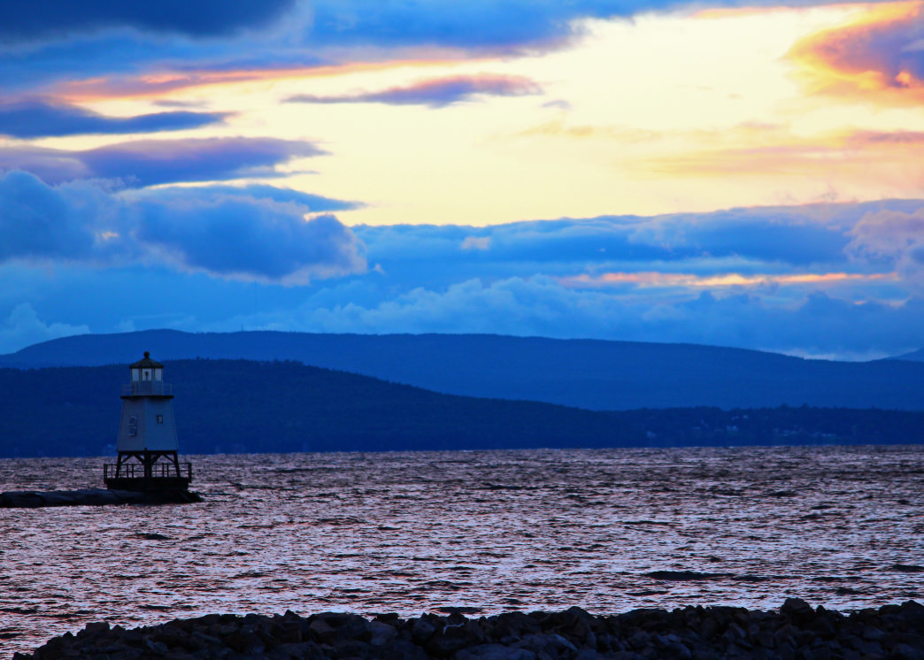 Catch the sunset over Lake Champlain for a romantic evening in Burlington.