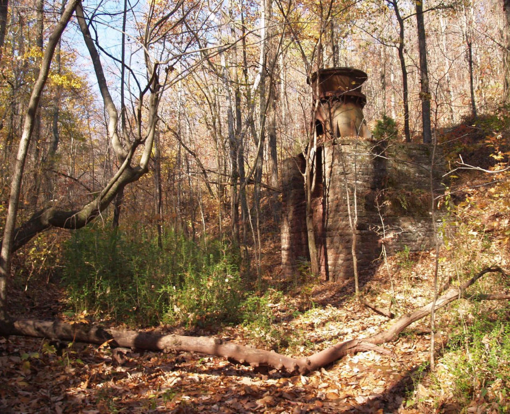 Coming out of the forest of Ruffner Mountain like an ancient Mayan ruin is this giant iron ore crusher from the 1800s.