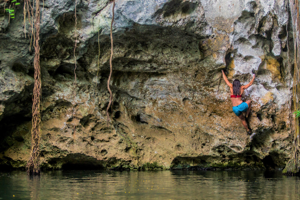 Andrea Szekely entered her first national climbing competition when she was 11 or 12, and has been pushing herself ever since. Paul Luna