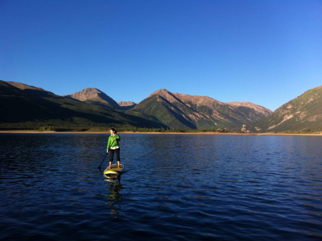 Twin Lakes is one of the picture-perfect paddle boarding spots around Aspen.