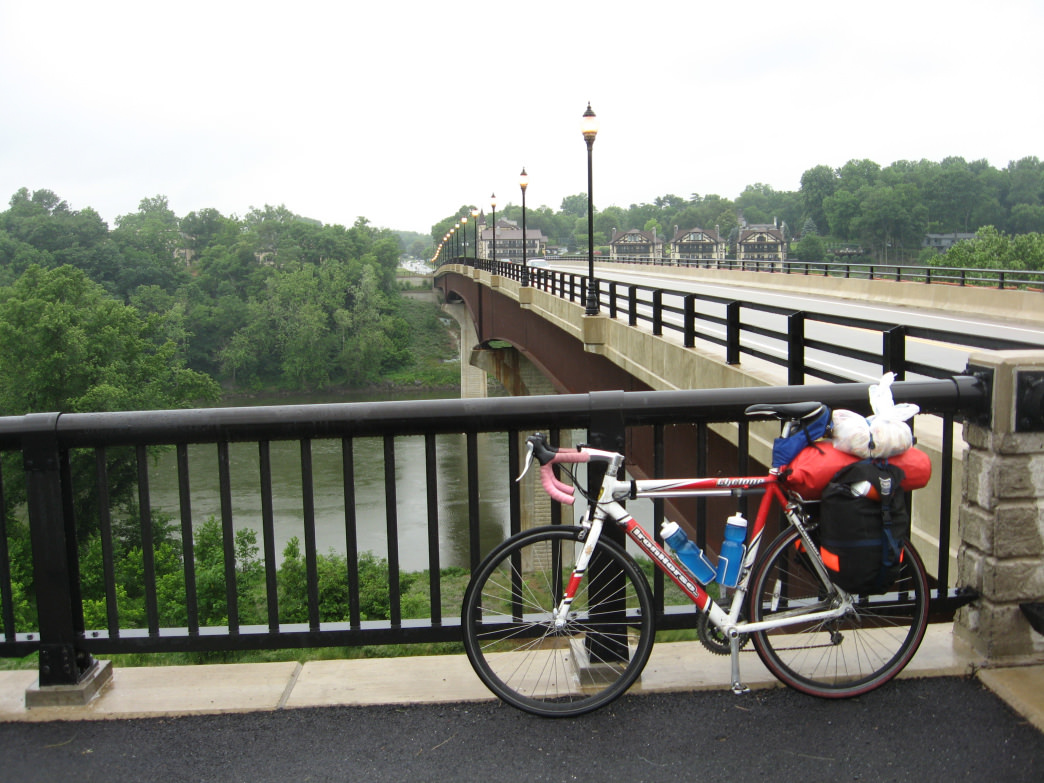 Stop to take in the beauty of the Potomac River as you cross the Shepherdstown Bridge.