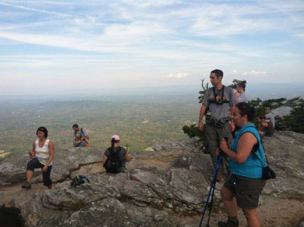 Through GOP Charlotte shop, hikers enjoy a day at nearby Crowder's Mountain State Park.