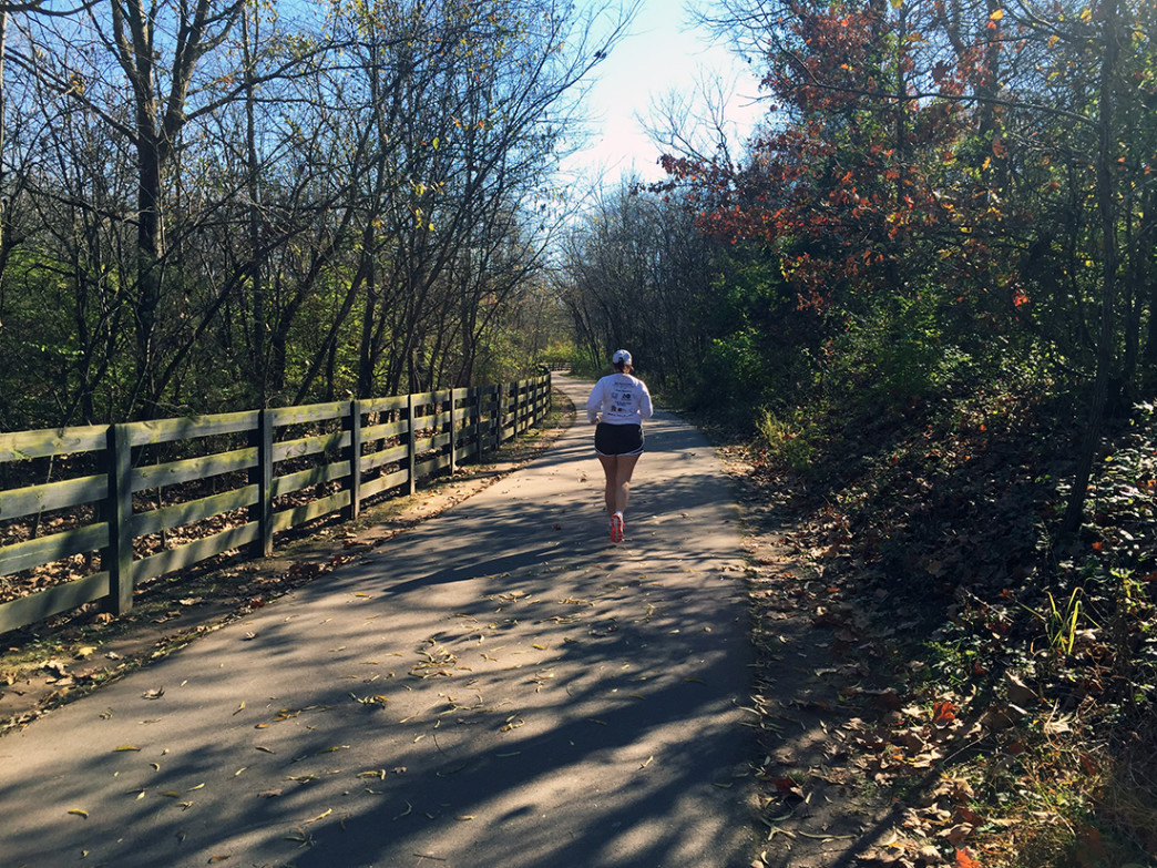The trail from River Park to Ravenwood offers plenty of scenery for runners.