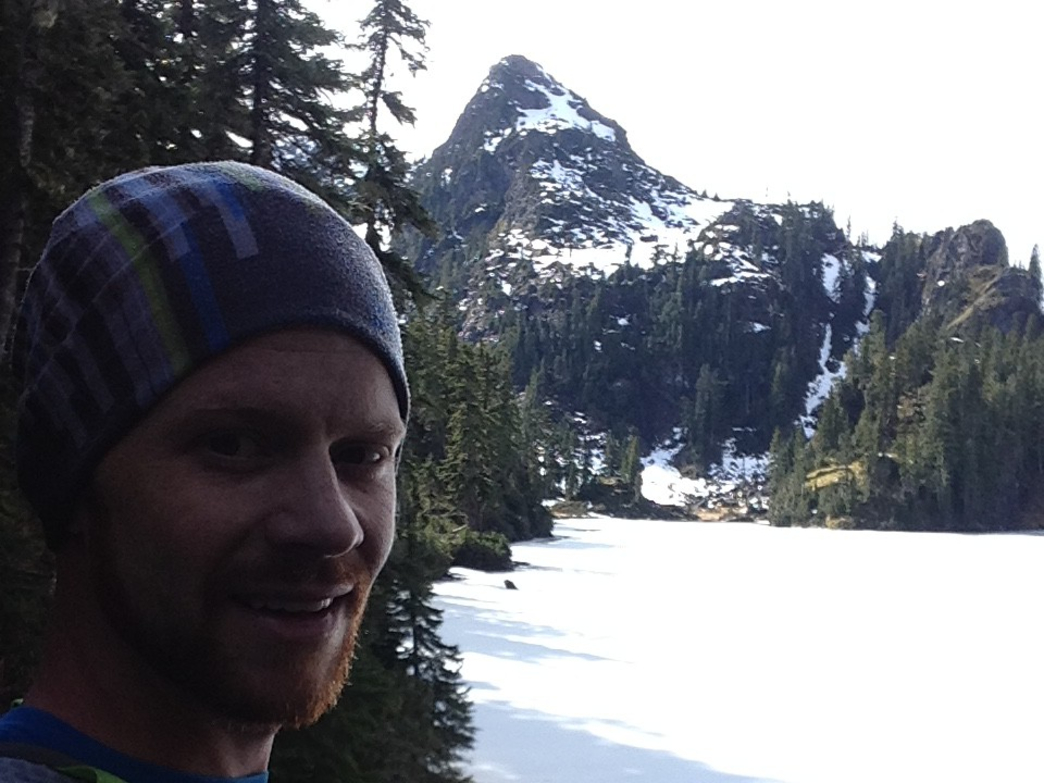 Korey Konga on a run to Upper Lena Lake