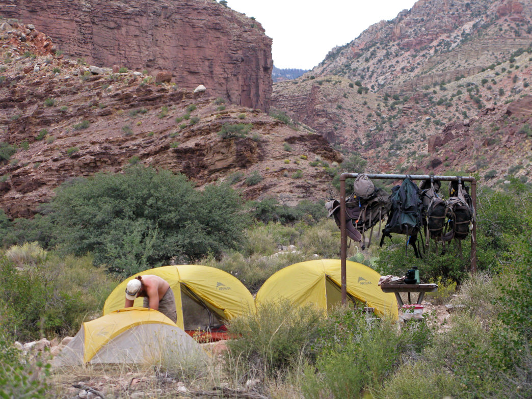 Solitude in the Grand Canyon is found by overnight campers.&lt;br /&gt;<br />     NPS photo by Michael Quinn
