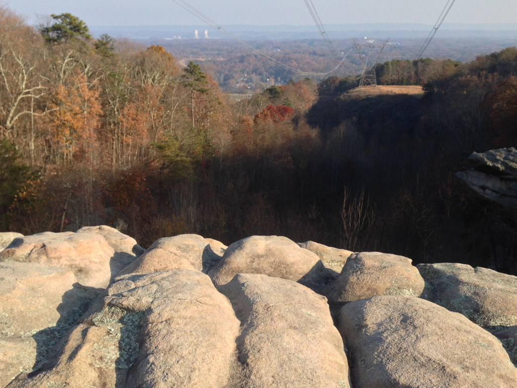 Powerline Rocks on the South Soddy portion of the Cumberland Trail.