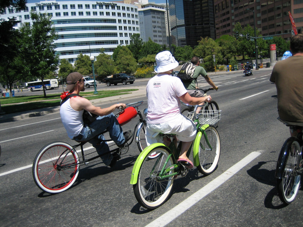 Coloradans use bikes for both work and play.