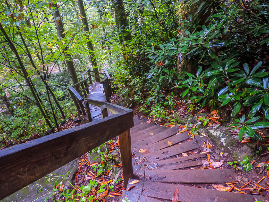 Don't let the distance fool you-there's hundreds of steps to climb at High Shoals falls hike in Morganton NC. kasiahalka (Kasia Halka)