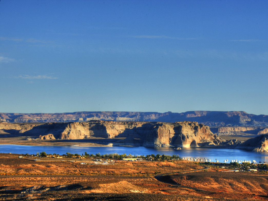 Scenic views of Lake Powell.