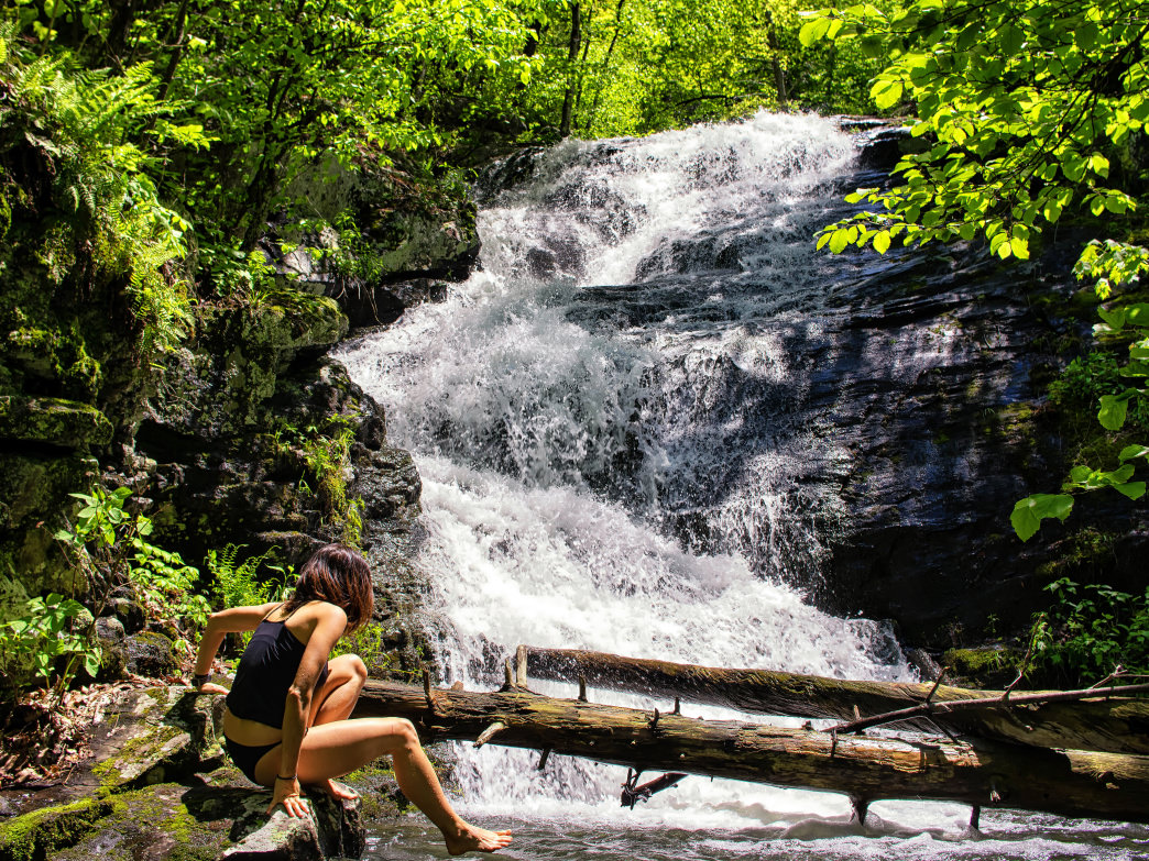 Overall Run Falls is a favorite hiking destination at Shenandoah National Park.
