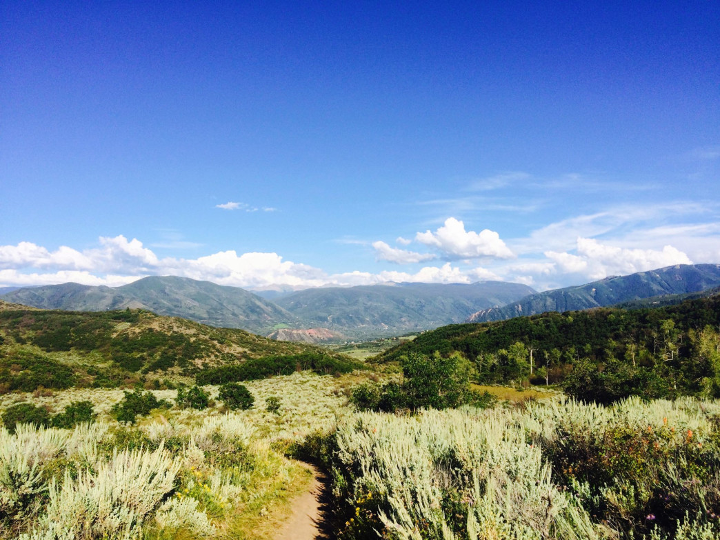 View from the top of Skyline Ridge Trail.