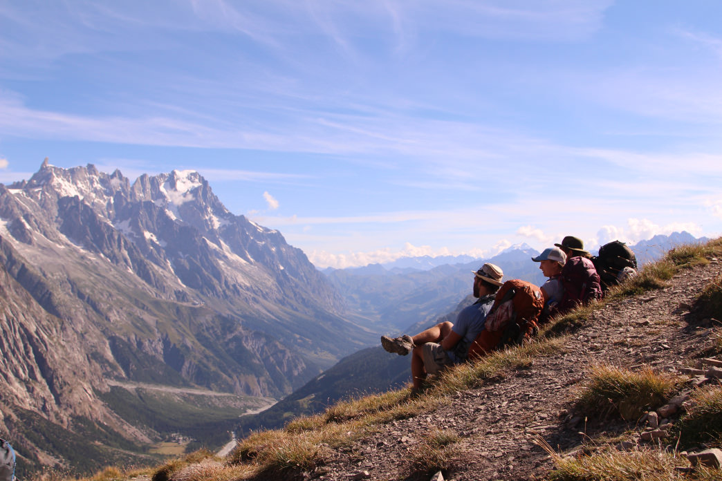 Taking in the Alpine views along the Tour de Mont Blanc.     Matt Guenther