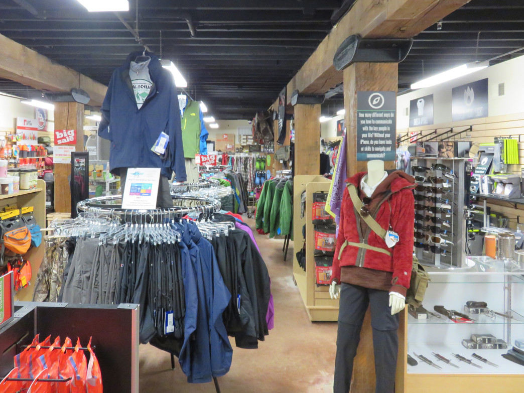 The shop packs a wide variety of products under one roof.