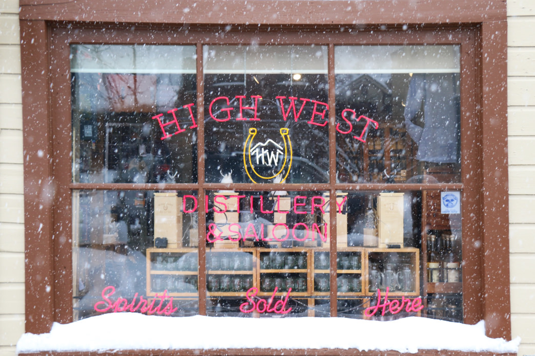 You can ski to the High West Distillery & Saloon in Park City.