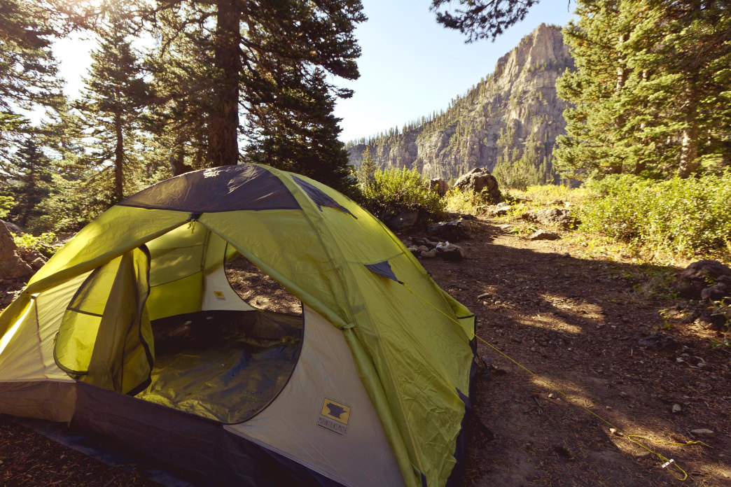 Logan Canyon National Scenic Byway is filled with scenic camping spots.