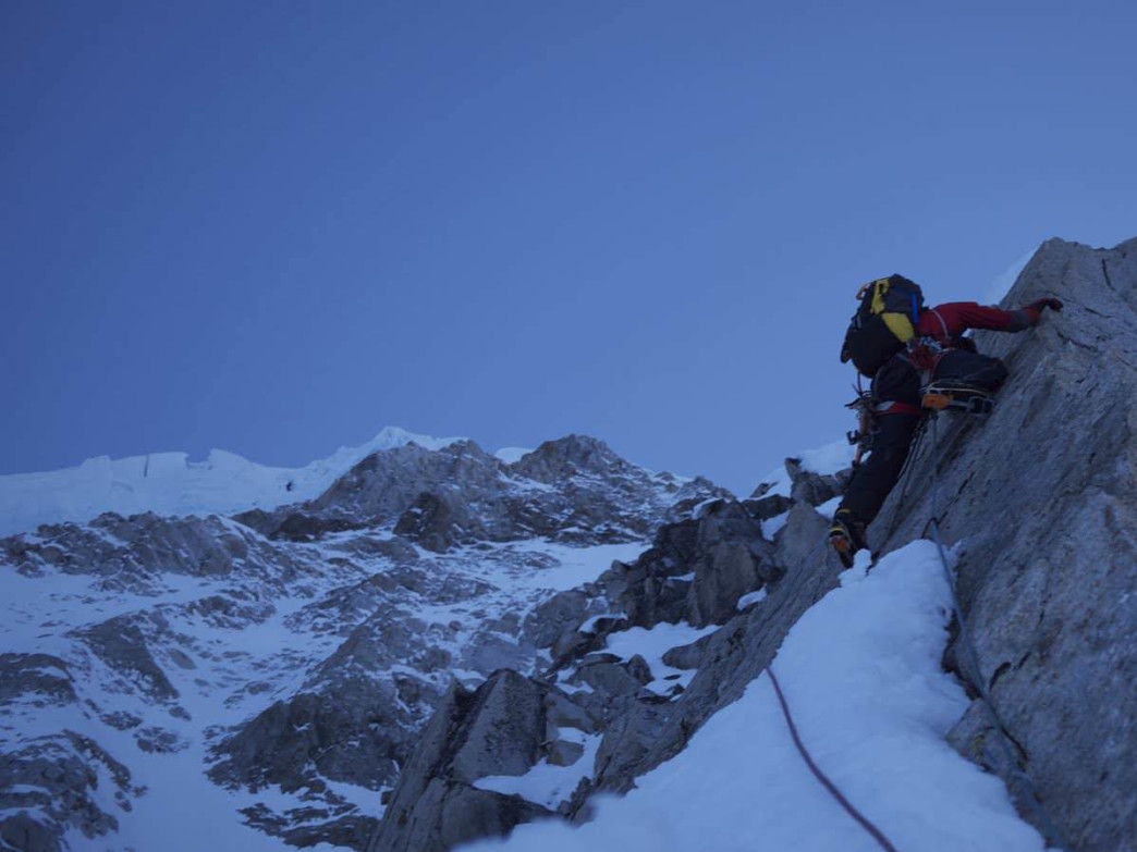 Climbing in the Lacuna Glacier of Alaska on the First Ascent of Voyager Peak, Courtesy of Mark Allen