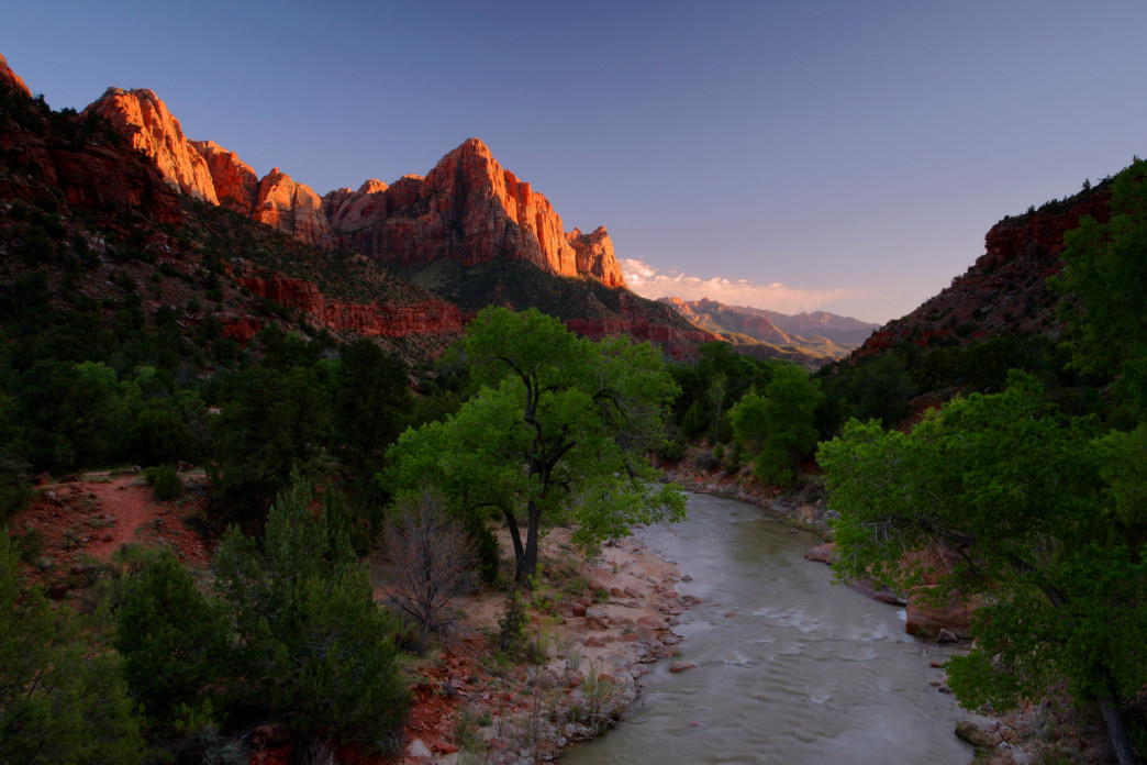 Zion National Park offers some of the most spectacular sunsets alongside stunning views.
