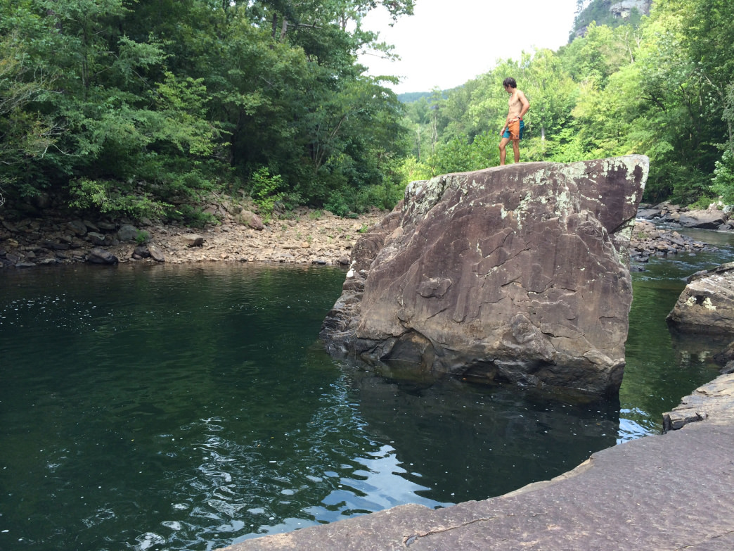 Finding a swimming hole, like this one in Alabama's Little River Canyon, can make for a fun escape.