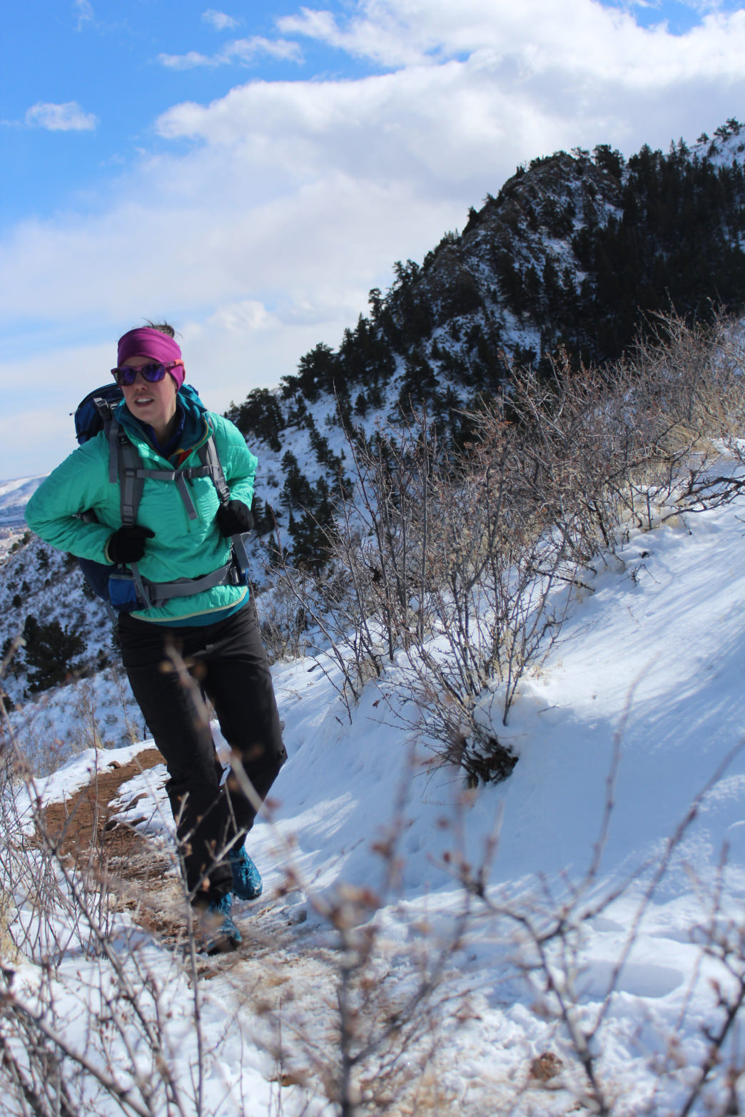 Hiking or skiing with an increasingly heavy pack is guaranteed to get you in tip-top shape.      Bix Firer