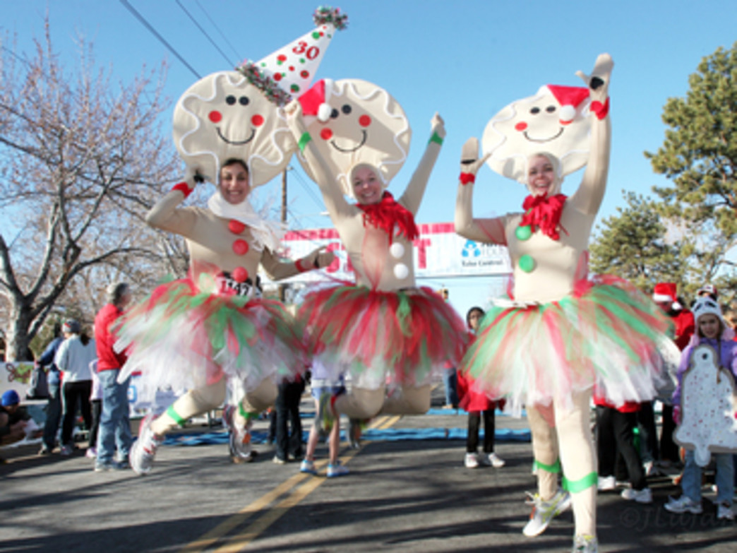 You'll find a lot of runners in costume at the Jingle Bell Run.